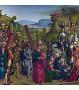 Boccaccio Boccaccino - Cristo porta la croce e la vergine Maria sviene. Stampa su tela