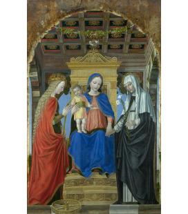 Ambrogio Bergognone - La Vergine col bambino e Santi. Stampa su tela