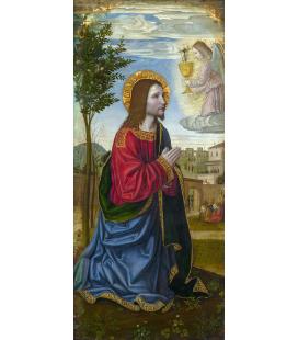 Ambrogio Bergognone - L'agonia in giardino. Stampa su tela