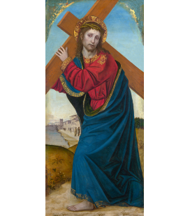 Ambrogio Bergognone - Christ carrying the Cross. Printing on canvas