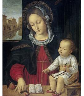 Ambrogio Bergognone - La Vergine e il bambino. Stampa su tela