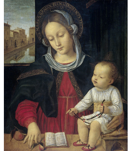Ambrogio Bergognone - The Virgin and Child. Printing on canvas