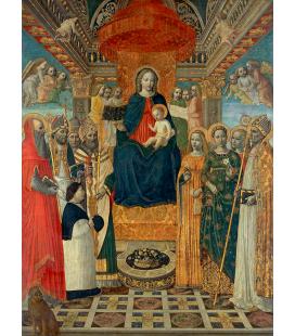 Ambrogio Bergognone - Sacra Conversazione. Stampa su tela