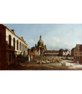 Bellotto Bernardo - New Market Square in Dresden. Printing on canvas