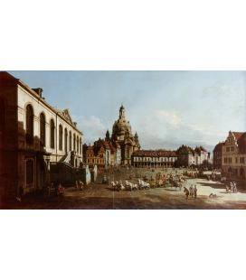 Bellotto Bernardo - Nuova piazza del mercato a Dresda. Stampa su tela