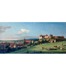 Bellotto Bernardo - View of Pirna from the Sonnenstein Castle. Printing on canvas