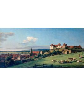 Bellotto Bernardo - Vista di Pirna dal Castello Sonnenstein. Stampa su tela