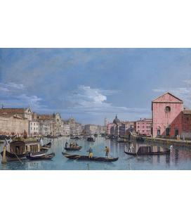 Bellotto Bernardo - Venezia, il Canal Grande di fronte a Santa Croce. Stampa su tela