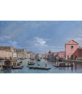 Bellotto Bernardo - Venice, the Grand Canal facing Santa Croce. Printing on canvas