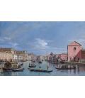 Bellotto Bernardo - Venice, the Grand Canal facing Santa Croce. Printing on canvas