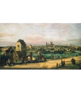 Bellotto Bernardo - Veduta di Monaco di Baviera. Stampa su tela