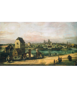 Bellotto Bernardo - View of Munich. Printing on canvas