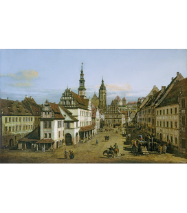Bellotto Bernardo - The Marketplace at Pirna. Printing on canvas