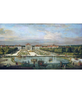 Bellotto Bernardo - Nymphenburg Palace Munich. Printing on canvas