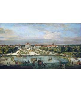 Bellotto Bernardo - Palazzo di Nymphenburg Monaco di Baviera. Stampa su tela