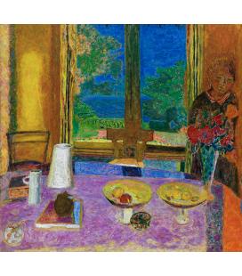 Pierre Bonnard - Sala da pranzo sul giardino. Stampa su tela