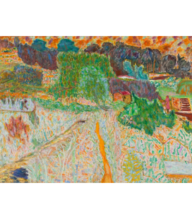 Pierre Bonnard - Vista dallo studio dell'artista. Stampa su tela
