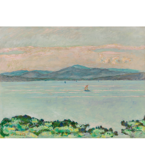 Pierre Bonnard - Le Golfe, entre la Napoule e Saint-Raphaël. Printing on canvas