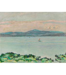 Pierre Bonnard - Il Golfo, tra Napoule e Saint Raphael. Stampa su tela