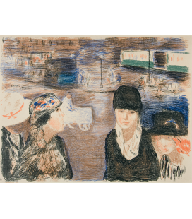 Pierre Bonnard - Place Clichy. Printing on canvas