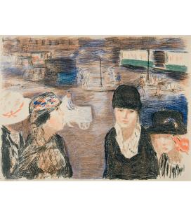 Pierre Bonnard - Place Clichy. Stampa su tela