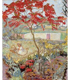 Pierre Bonnard - Il Giardino e l'albero rosso. Stampa su tela