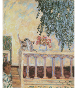 Pierre Bonnard - Cats on the Railing. Printing on canvas