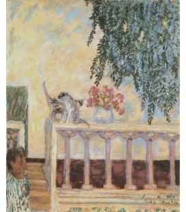 Pierre Bonnard - Gatti sulla ringhiera. Stampa su tela