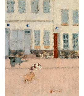 Pierre Bonnard - Due Cani in una strada deserta. Stampa su tela