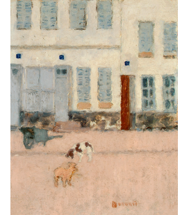 Pierre Bonnard - Two dogs on a deserted road. Printing on canvas