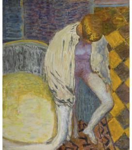 Pierre Bonnard - Donna che esce dal bagno. Stampa su tela