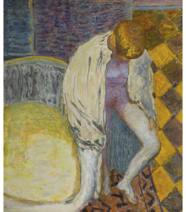 Pierre Bonnard - Woman coming out of the bathroom. Printing on canvas