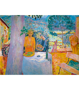 Pierre Bonnard - La Terrasse à Vernon. Printing on canvas