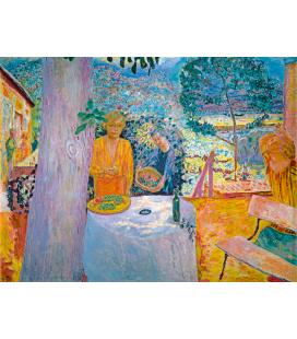 Pierre Bonnard - La terrazza a Vernon. Stampa su tela