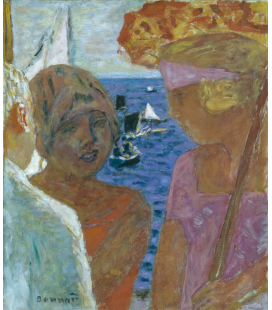 Pierre Bonnard - Conversation in Arcachon. Printing on canvas