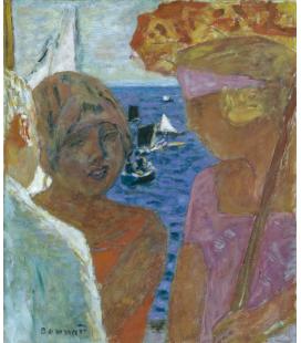 Pierre Bonnard - Conversazione in Arcachon. Stampa su tela