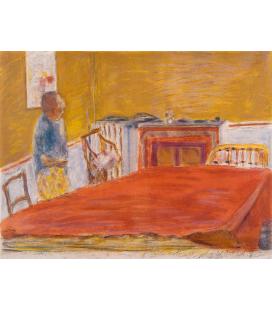 Pierre Bonnard - Il Tappeto Rosso. Stampa su tela