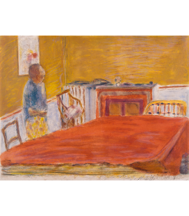 Pierre Bonnard - The Red Carpet. Printing on canvas