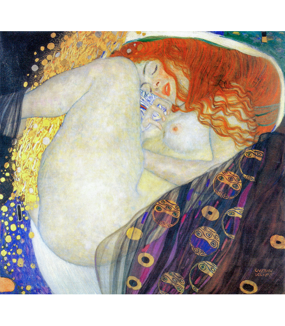 Printing on canvas: Gustav Klimt - Danae