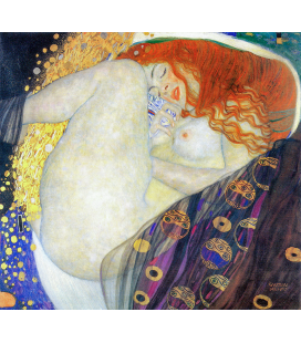 Gustav Klimt - Danae. Stampa su tela