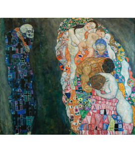 Gustav Klimt - The Life and Death. Printing on canvas