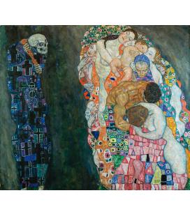 Gustav Klimt - La Vita e la Morte. Stampa su tela