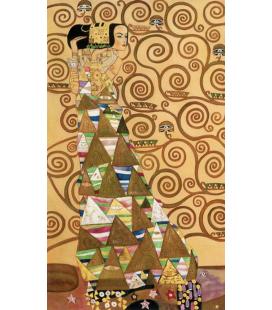 Gustav Klimt - L'Attesa. Stampa su tela