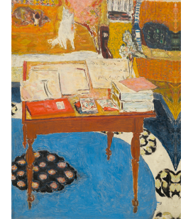 Pierre Bonnard - Work tableb. Printing on canvas