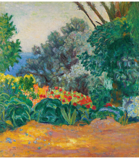 Pierre Bonnard - Angolo del giardino fiorito. Stampa su tela