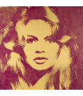 Andy Warhol - Brigitte Bardot. Printing on canvas