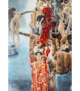 Gustav Klimt - Medicina. Riproduzione giclèe su tela