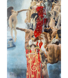 Gustav Klimt - Medicine. Giclèe reproduction on canvas