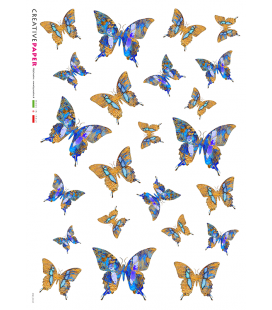 Decoupage rice paper: Little Butterflies Blue and Yellow