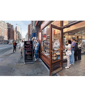 Richard Estes - Lunch Specials. Giclèe reproduction on canvas